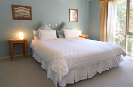 Two bedrooms accommodate 4 guests comfortably.